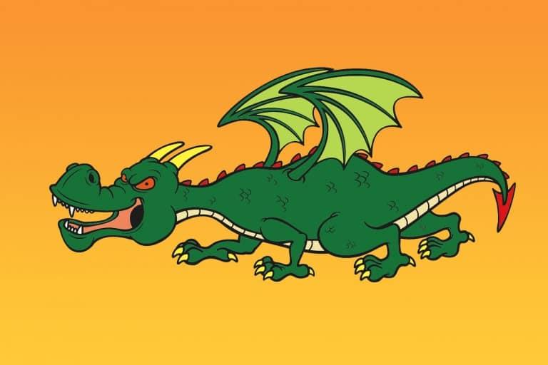 Kleurplaat draak voorbeeld