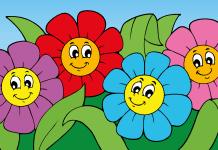 Voorbeeld kleurplaat bloemen