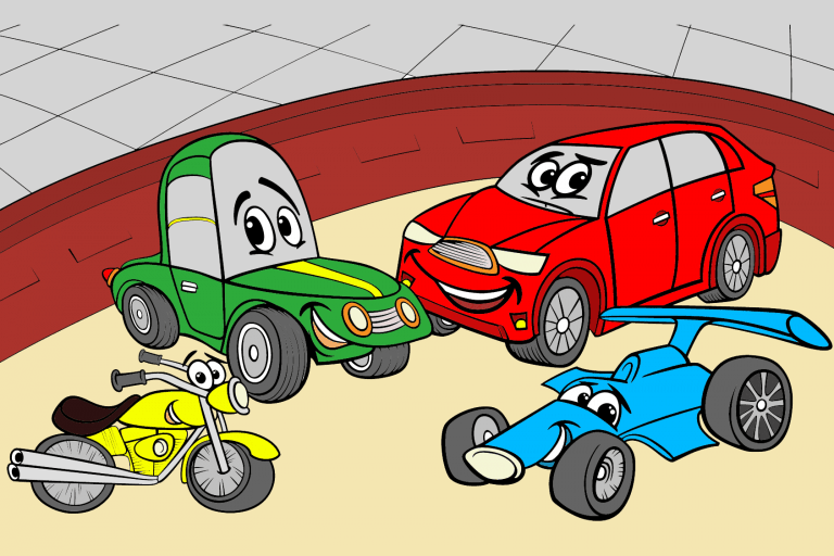 Voorbeeld kleurplaat auto
