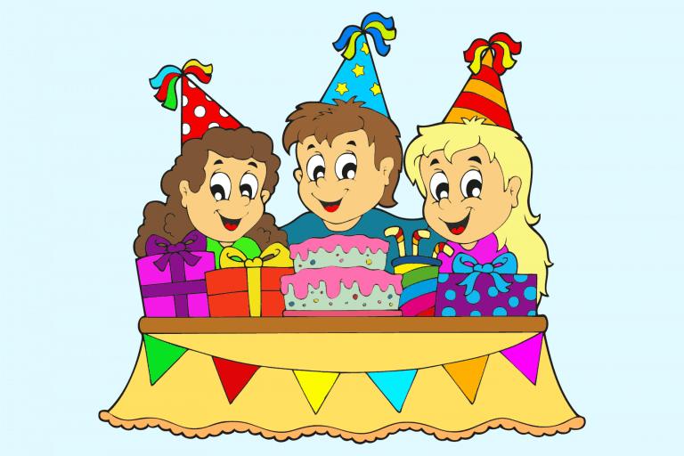 Voorbeeld kleurplaat feest