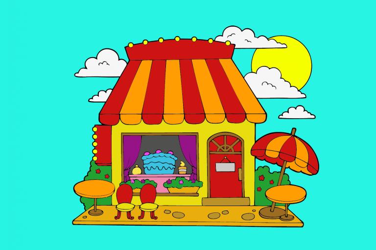 Kleurplaat huis voorbeeld