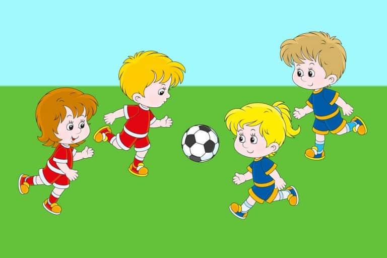 Kleurplaat voetbal voorbeeld