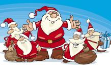 Kerstman kleurplaat voorbeeld