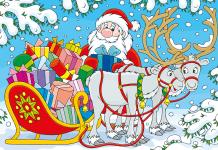 Kleurplaat kerst voorbeeld