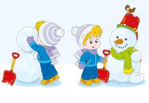 Kleurplaat sneeuwpop voorbeeld