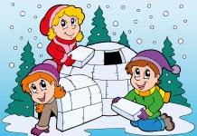Kleurplaat winter voorbeeld