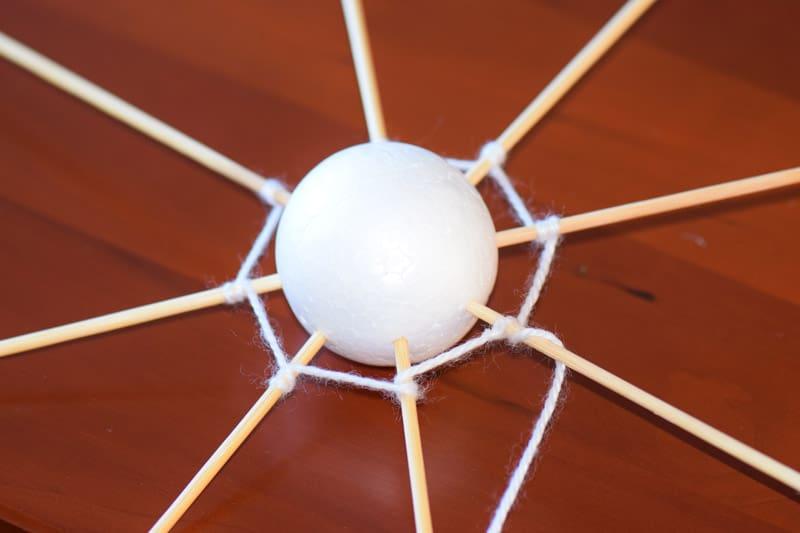 spinnenweb maken van wol