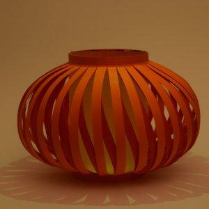 Chinese lampion met oranje en rood papier