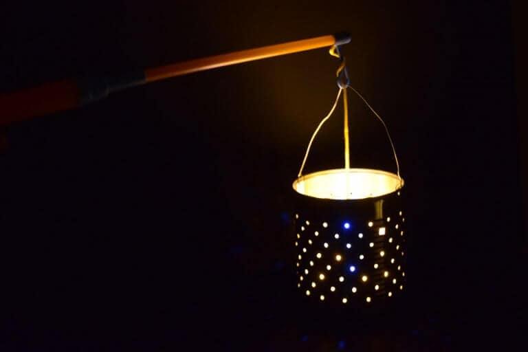 Lampion van blik