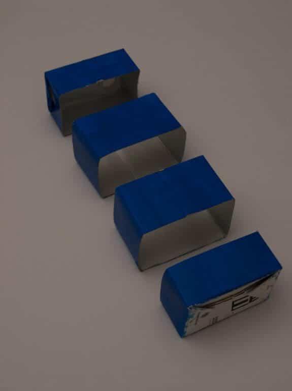 Verpakking in stukken gesneden