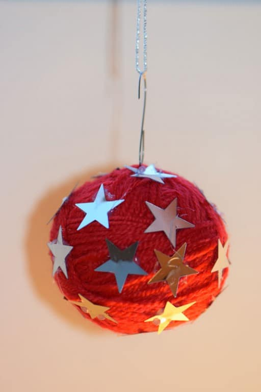 kerstbal van wol