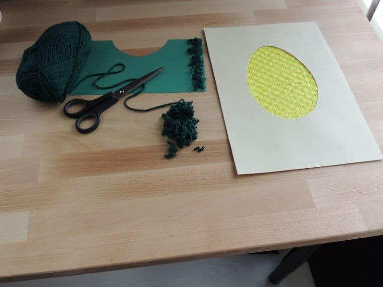 gras maken voor paasei