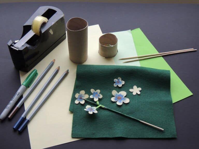 materiaal om eierdop bloem te maken