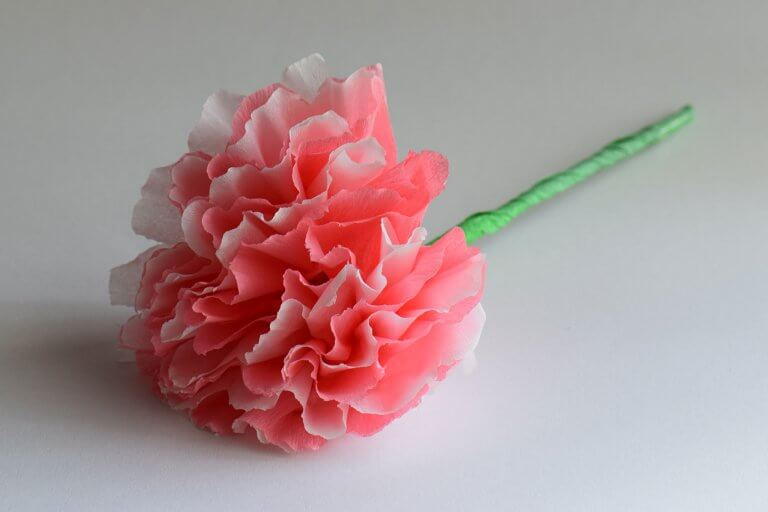 crepepapier bloem maken
