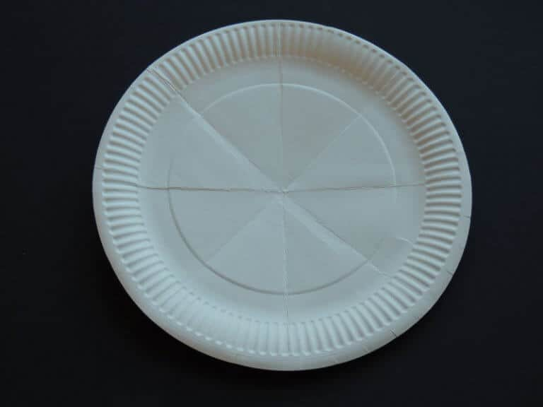 papieren bord paar keer dubbel gevouwen