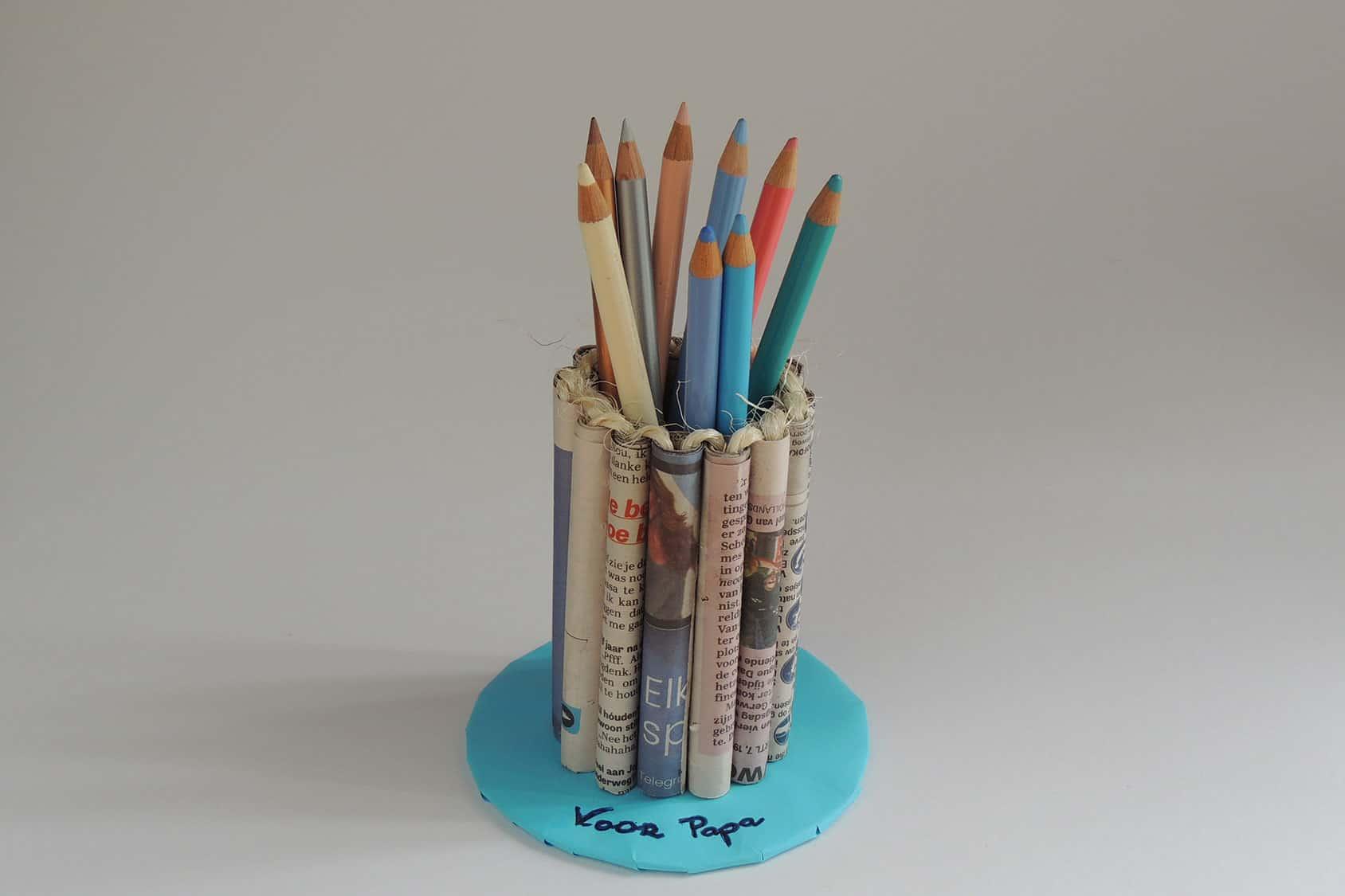 Pennenbakje knutselen leer hoe je zelf een leuk pennenbakje kunt maken - Hoe een kamer van een kind te versieren ...