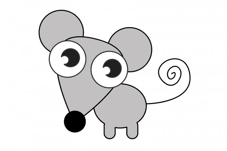 muis tekenen (ingekleurd)