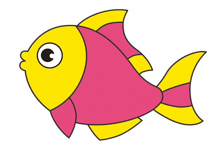 vis tekenen (ingekleurd)