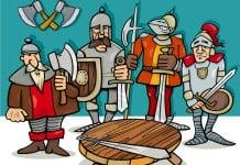 ridder kleurplaat voorbeeld