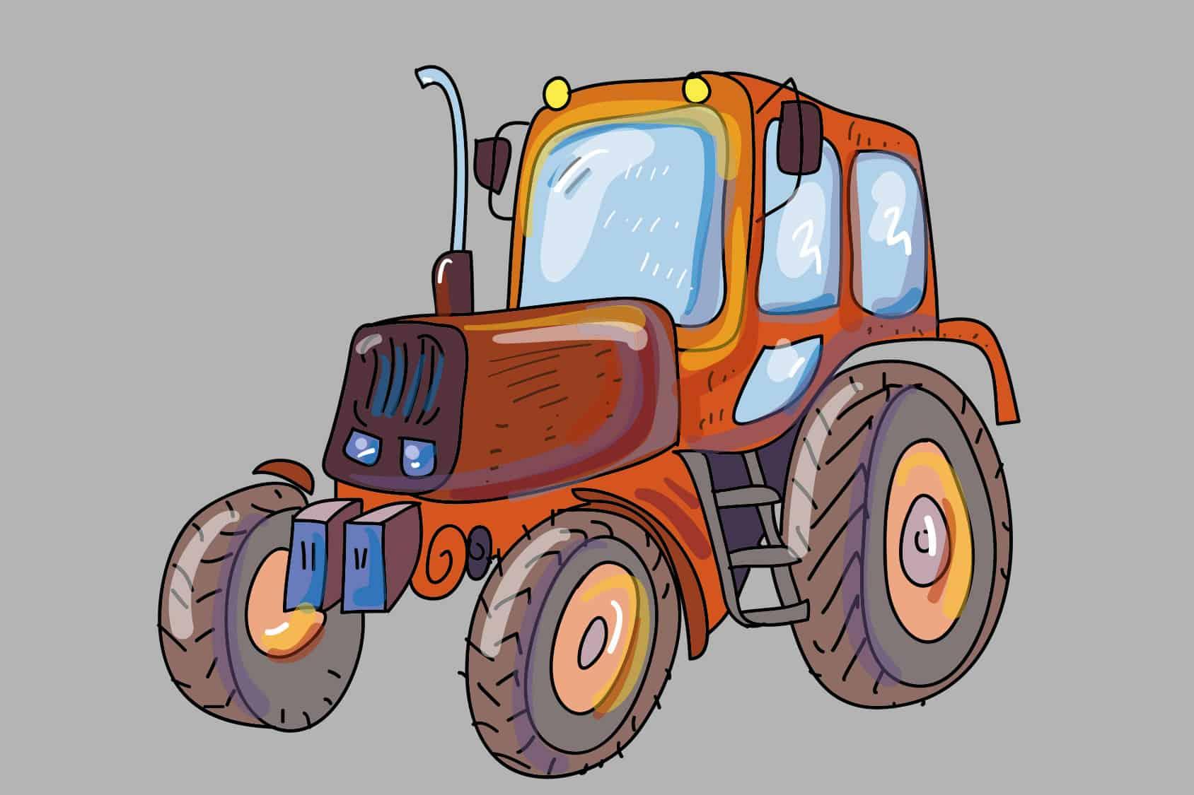 Kleurplaten Van Tractors.Kleurplaat Tractor Graafmachines En Trekkers Tijd Met Kinderen