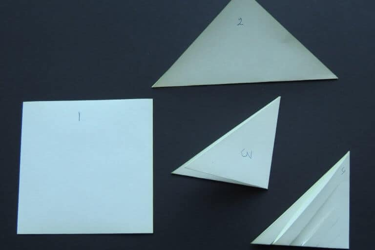 Stap 1 pegel maken van papier