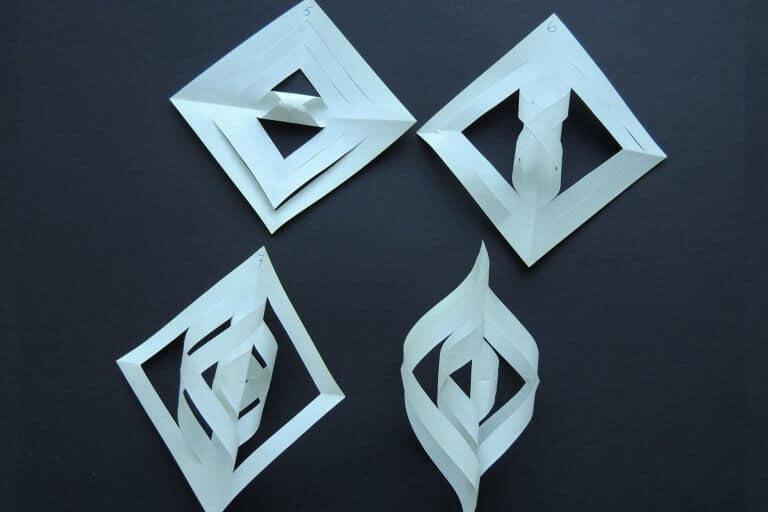 Stap 2 pegel maken van papier