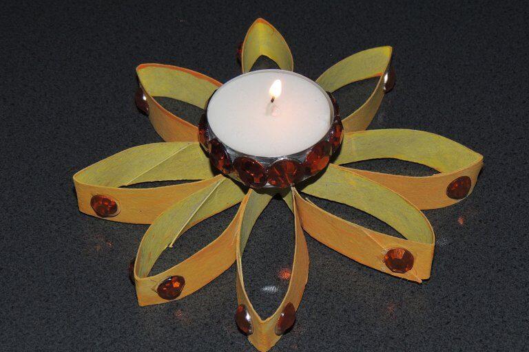 Waxinelichthouder zelf maken