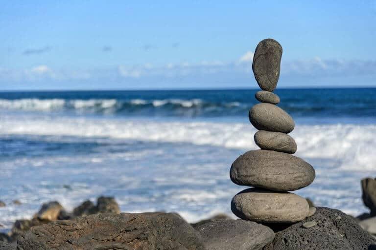 Landart met stenen