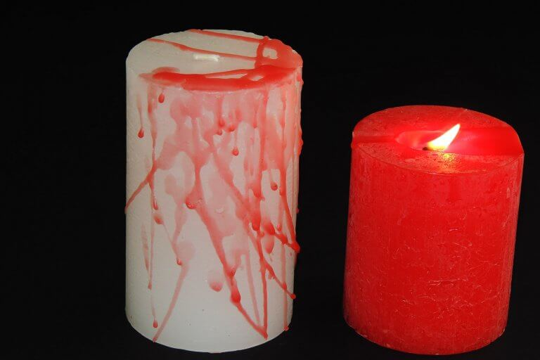 Kaars met bloed maken