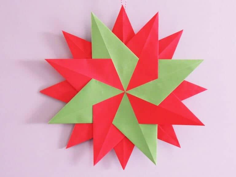 Dubbele kerstster van papier