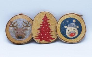 Onderzetters maken voor Kerst