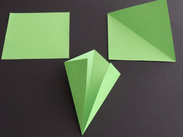Stap 1: dubbele kerstster maken van papier