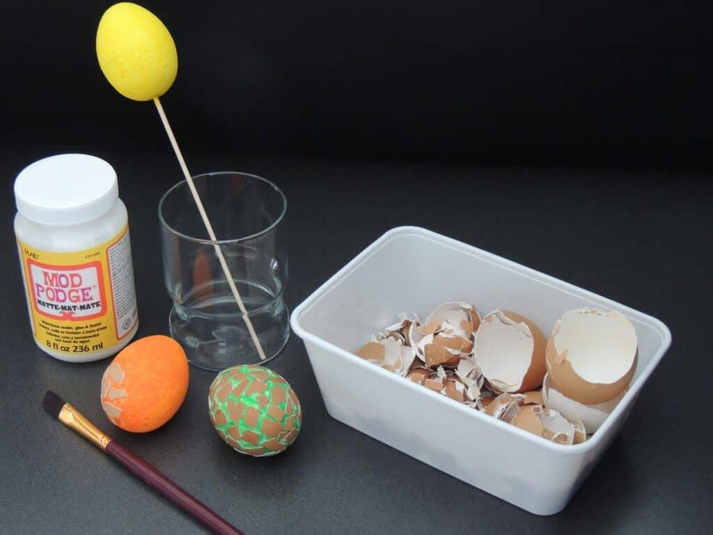 Piepschuim ei met eierschaal maken