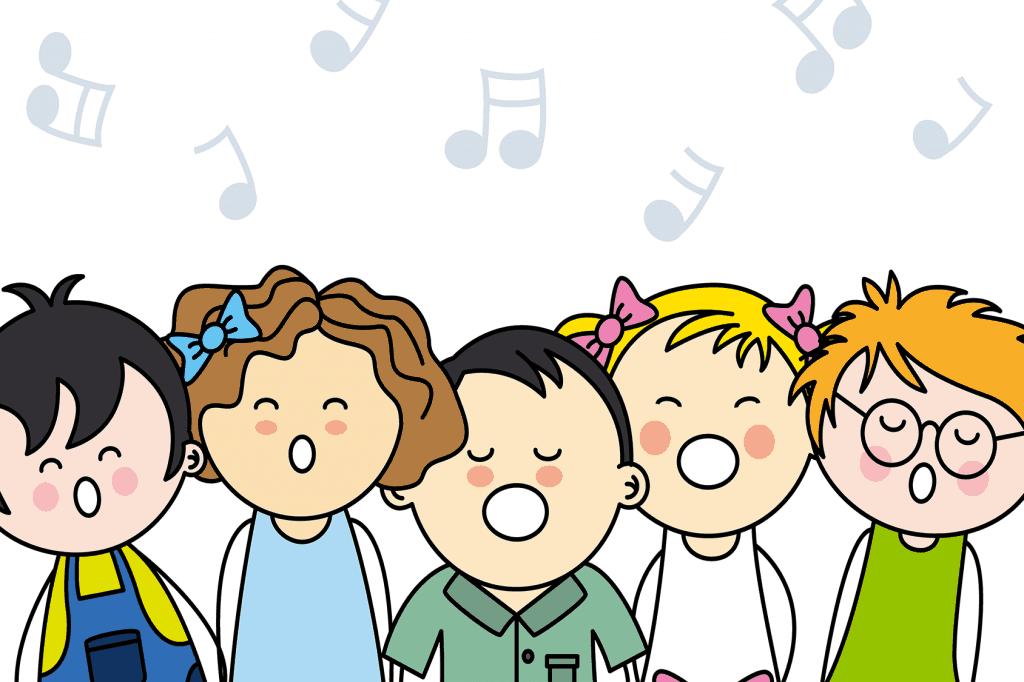 Illustratie kinderen zingen