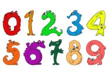 Kleurplaat cijfers ingekleurd voorbeeld