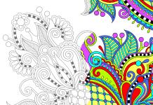 Kleurplaat volwassen voorbeeld