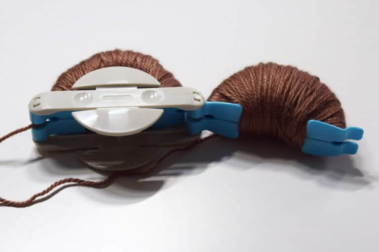 Pompon maken stap 1