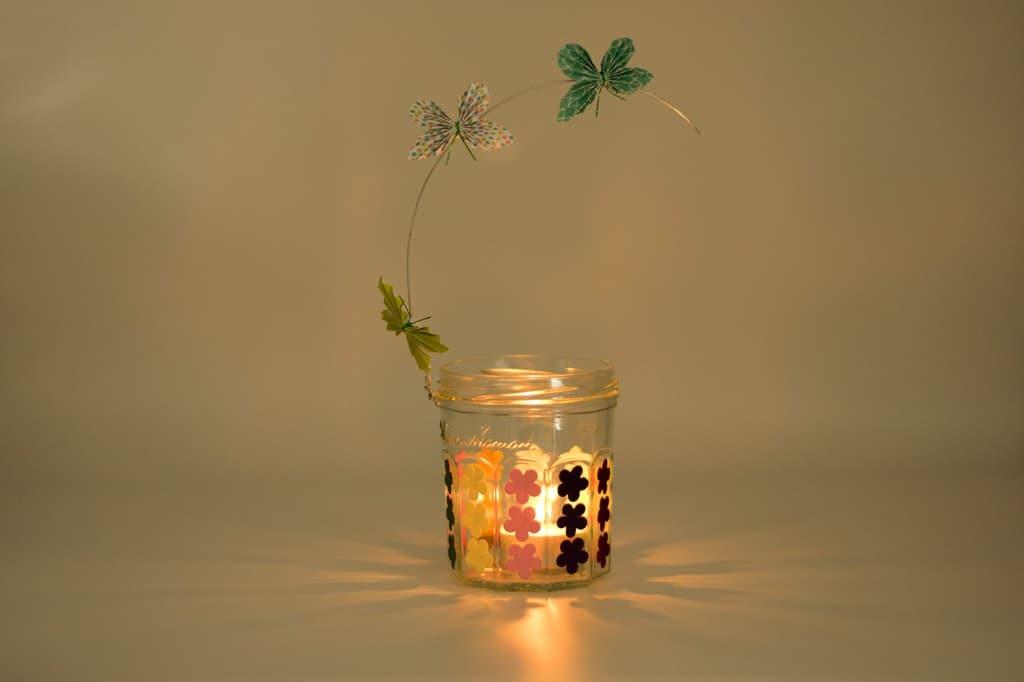 Glazen waxinehouder maken