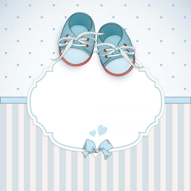 Geboortekaart jongen met schoentjes