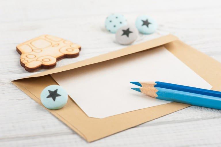 Tekst op geboortekaart schrijven
