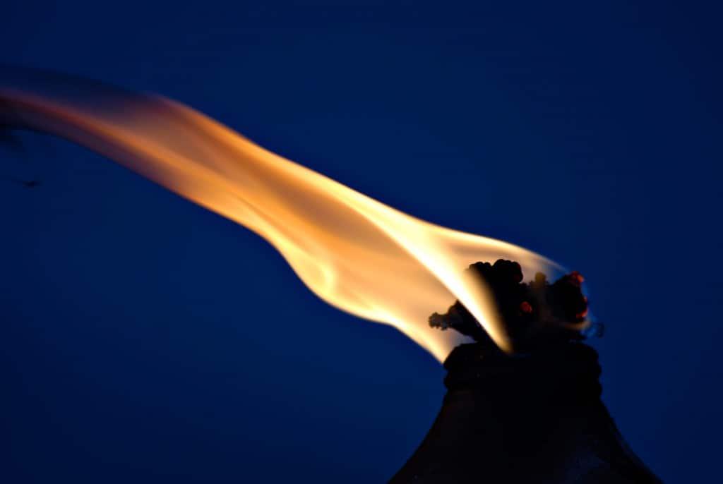 Vlam van een fakkel