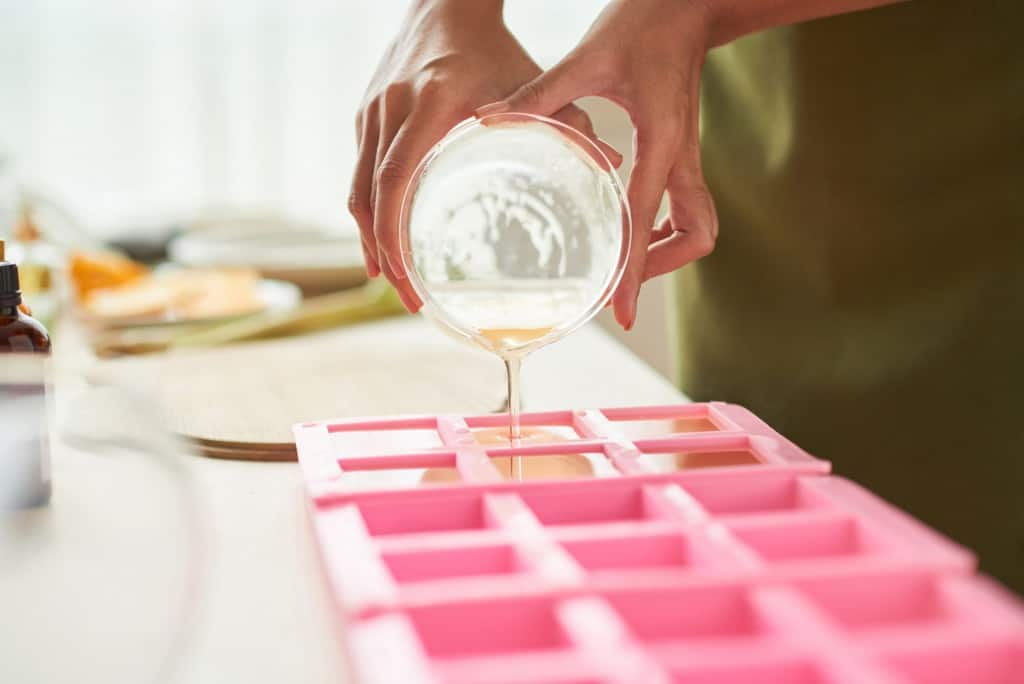 Zeepblokjes maken
