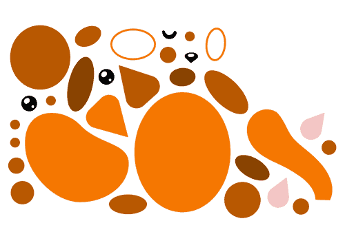 Onderdelen oranje kat