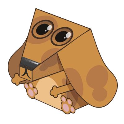 3D hond tekkel