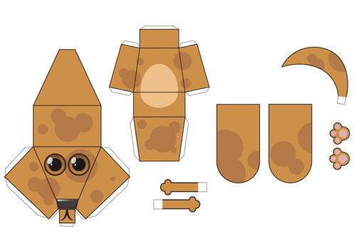 Onderdelen 3D hond tekkel