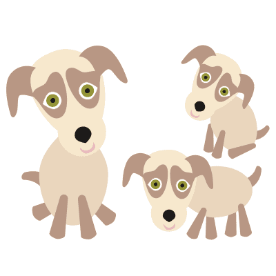 Meerdere hondjes