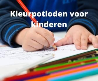 Banner kleurpotloden voor kinderen
