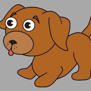 Hond tekenen ingekleurd