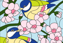 Kleuren op nummer lente