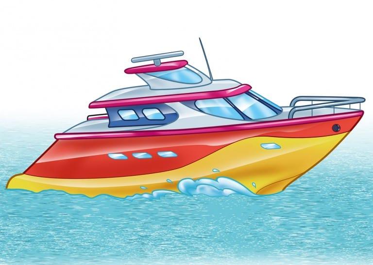 Kleurplaat boot (voorbeeld)